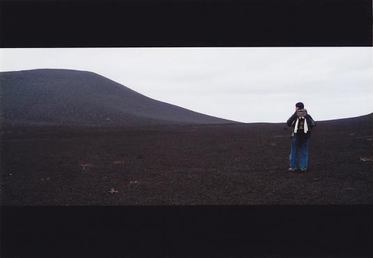 砂漠に立つ