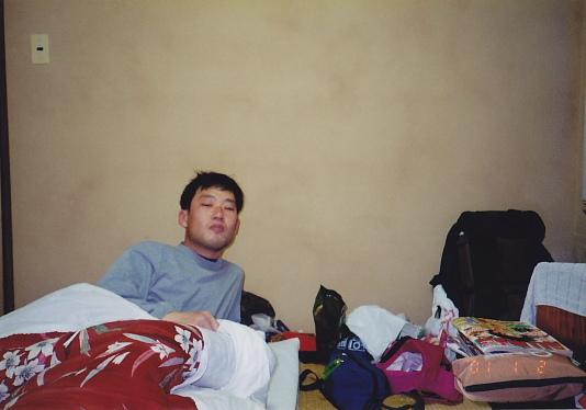 熱海の旅館にて