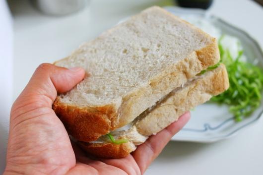 上から別のパンで挟みます