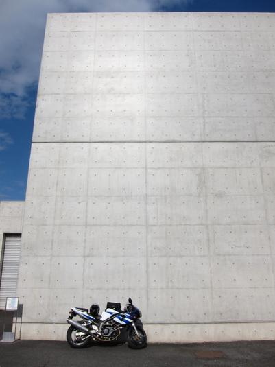 成羽美術館とバイク