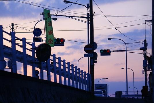 赤と青の信号機